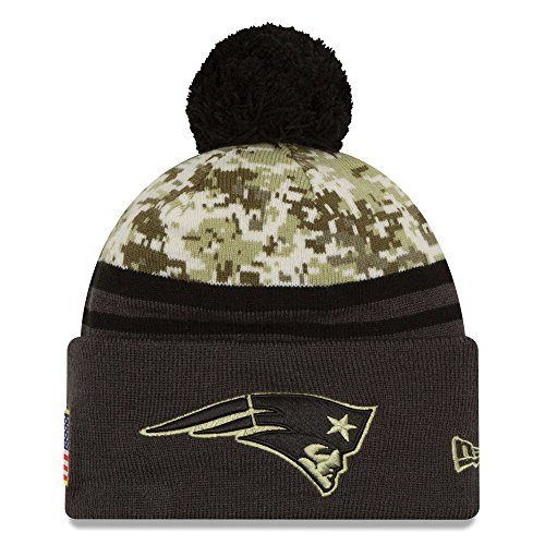 Men's New Era NFL New England Patriots 16 Salute To Service Knit Hat Camo Size One Size (New Era Salute To Service compare prices)