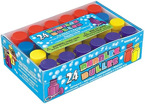 Unique Party 95233 - Mini Burbujas de Fiesta, Paquete de 24 , color/modelo surtido: Amazon.es: Juguetes y juegos