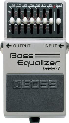 Amazon Com Boss Seven Band Graphic Bass Equalizer Guitar Pedal Geb 7 Musical Instruments