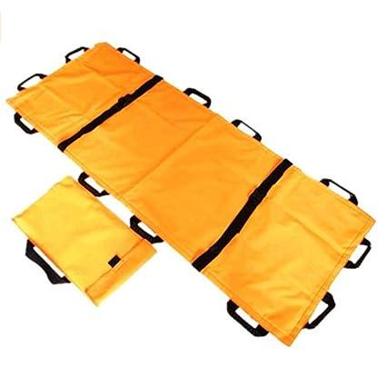 Camilla plegable de Oxford con 12 manijas Camilla de espalda de rescate plegable/de emergencia