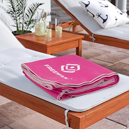 YOULERBU Microfiber Beach Towel - Swimming Pool Towels Quick Drying Towel Yoga, Sand Free Towel Beach, Lightweight Towel Travel Large 2 Set