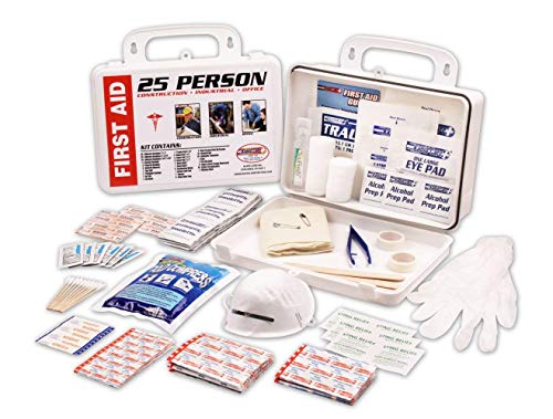 Rapid Care First Aid RC-25MAN-W 25 person 166 Piece ANSI/OSHA Compliant First Aid Kit in Wall Mountable Poly Case