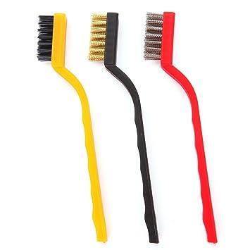 El cepillo de alambre de la limpieza de la estufa de gas 3Pcs / Set,