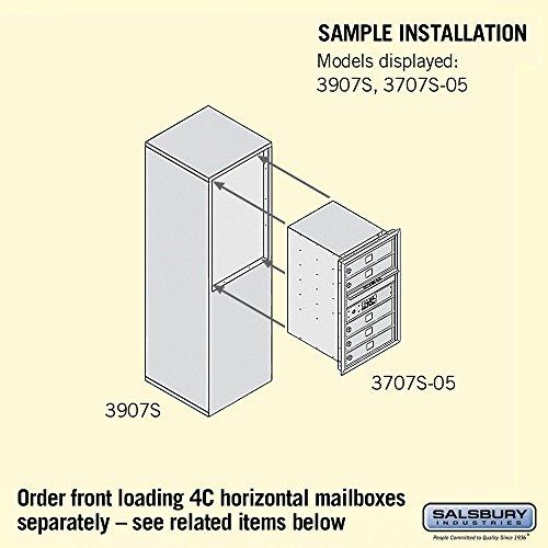 Salsbury Industries 3907S-SAN Free-Standing Enclosure for 3707 Single Col, Sandstone