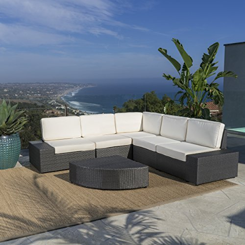 Santa Cruz Outdoor Wicker Furniture Set Sectional And