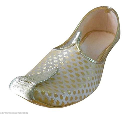 Traditional Handmade Sherwani Jutti Flip-Flops Men Shoes Khussa