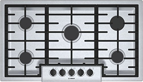 "Bosch 500 Series 36"" Stainless Steel 5 Burner Gas Cooktop"