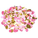 5000 Pieces Paper Table Confetti Circles, Party Confetti Dots for Wedding, Holiday, Anniversary, Birthday 1 Inch (1.76 OZ)