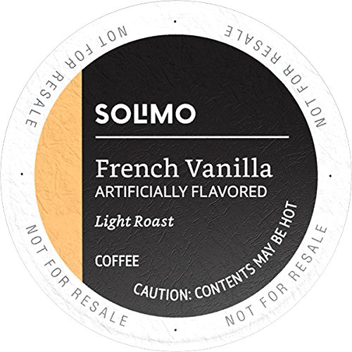 (Amazon Brand - 100 Ct. Solimo Light Roast Coffee K-Cup Pods, French Vanilla Flavored, Compatible with 2.0 K-Cup Brewers)