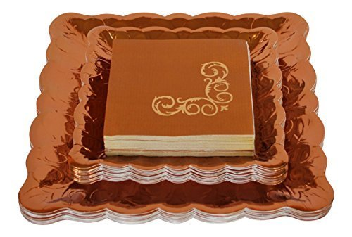 Deluxe Fall Party Plates and Napkins Bundle - 3 Items - Dinner Plates, Dessert Plates & Napkins for $<!--$29.99-->