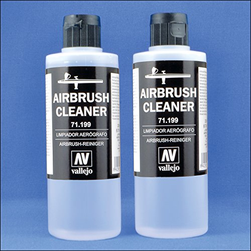 Airbrush Cleaner For Water-Base Paints, 400ml (13.5 Liquid Oz) by Acrylicos Vallejo S.L.