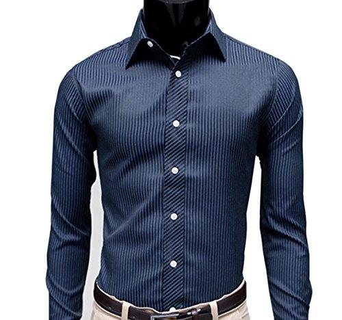 buy online f6c08 5f59d Aulei Herrenhemden Slim Fit Shirt Langarm Hemd Männer Casual ...
