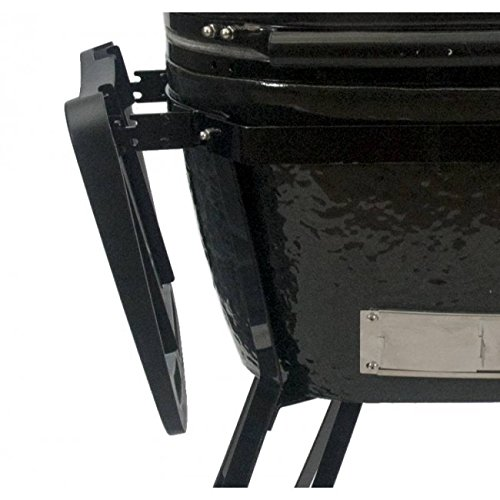 Primo - XL Oval All-In-One Oval Grill with Heavy Duty Stand, Side Shelves, Ash Tool, and Grate Lifter