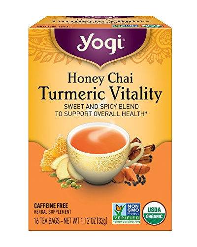 Tea Yogi Chai - Yogi Tea, Honey Chai Turmeric Vitality, 16 Count