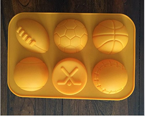 Sports Balls Athlete silicone Mold Chocolate Candy fondant mold Mini Cake Pan