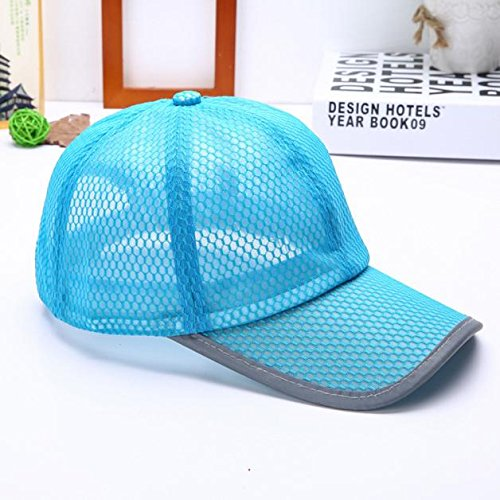 Hot Sale! Charberry Mens Mesh Baseball Cap Summer Breathable Mesh Baseball Cap Men Women Sport Hats (Sky blue)