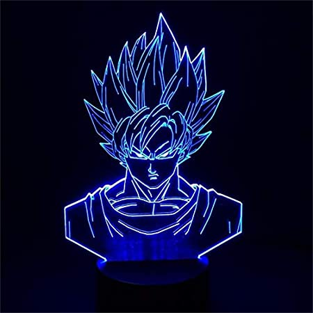 Lighting LED Dragon Ball Sun Wukong Super Saiyan Figura De ...