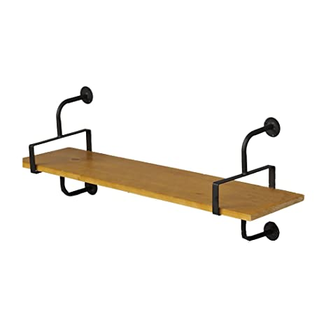 Amazon.com: Estantería de madera maciza de estilo retro ...