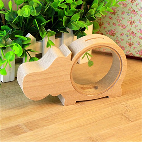 Autumn Water Fashion kids Money Boxes Coin Bank For Children Four Kind Of Cute Animal Transparent Wood Decoration Design Box