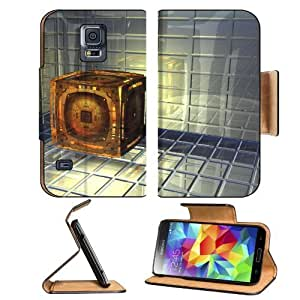 Abstract Glass Digital Art 3D Quartz Samsung Galaxy S5 SM-G900 Flip Cover Case with Card Holder Customized Made to Order Support Ready Premium Deluxe Pu Leather 5 13/16 inch (148mm) x 2 1/8 inch (80mm) x 5/8 inch (16mm) MSD S V S 5 Professional Cases Acce