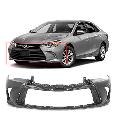 MBI AUTO Primered, Front Bumper Cover Fascia for 2015-2017 Toyota Camry 15-17, TO1000409
