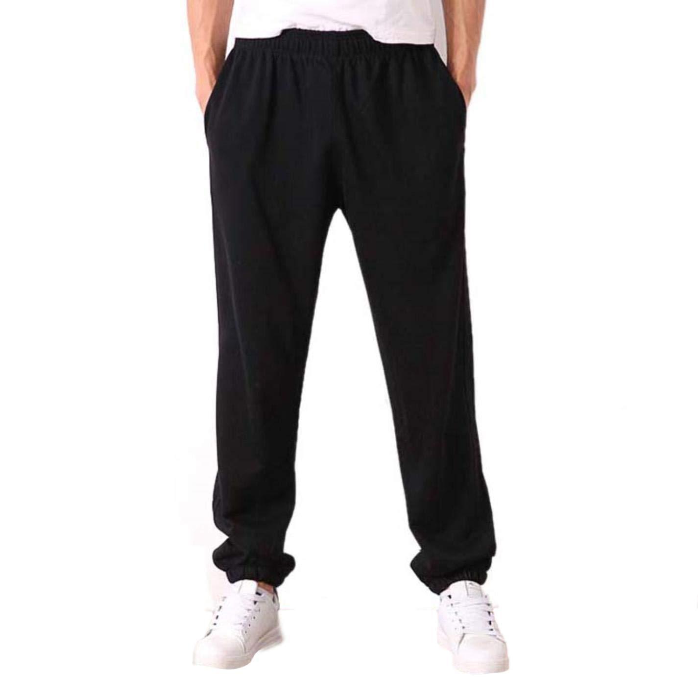 Zhi Fan Men's Plus Size 6XL Solid Baggy Loose Elastic Cotton Sweat Pants