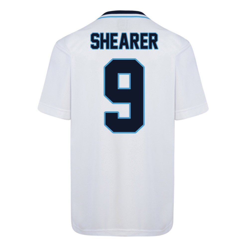 Score Draw England Euro 1996 Home Football Soccer T-Shirt Trikot (Alan Shearer 9)