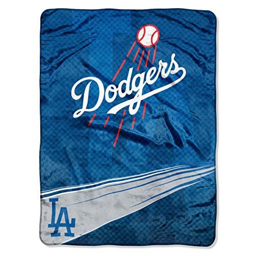 Los Angeles Blanket - MLB Los Angeles Dodgers Speed Plush Raschel Throw Blanket, 60x80-Inch
