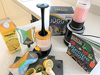 Nutripouch Drinks Reusable Pouch Storage System - Enjoy Blended Juices, Home Made Shakes and Smoothies On the Go - Ideal Nutribullet Accessory