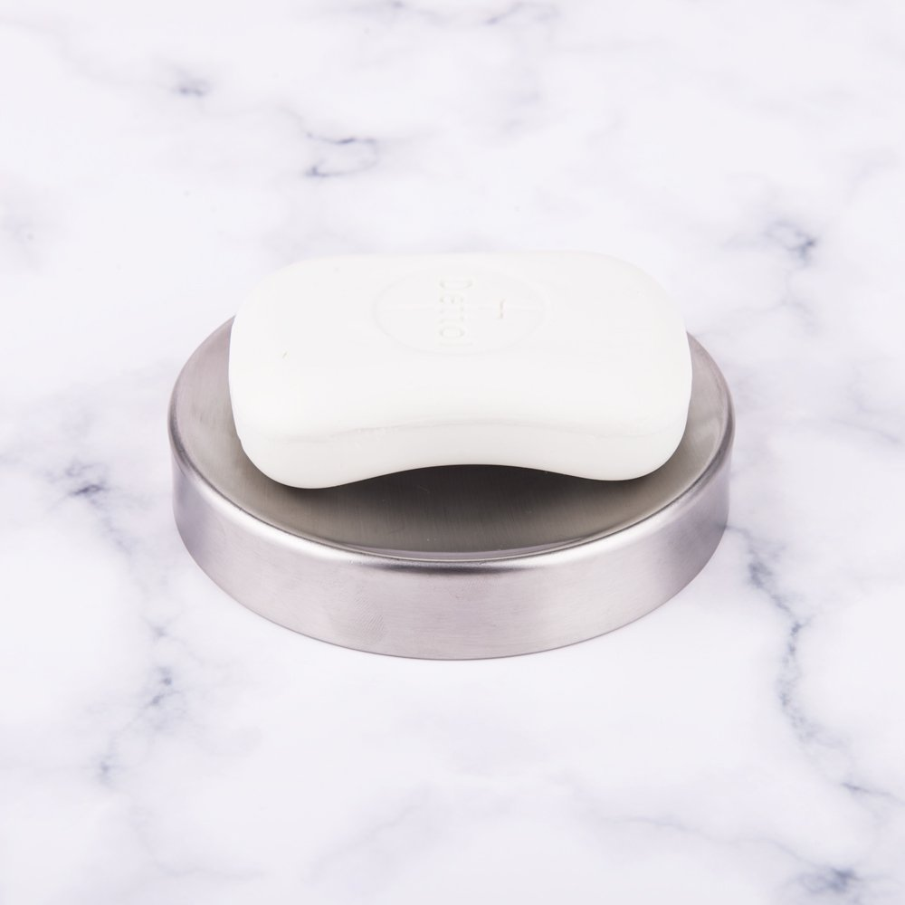 IMEEA Soap Dish Holder for Bathroom Kitchen SUS304 Stainless Steel Style A