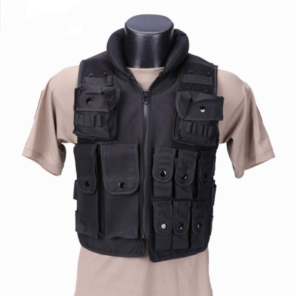 ZS-BX-Chaleco tá ctico Al Aire Libre Chaleco tá ctico de Entrenamiento de Seguridad al Aire Libre Negro CS Equipo tá ctico Chaleco MOLLE Sistema 900D Oxford Tela Tactical Vest