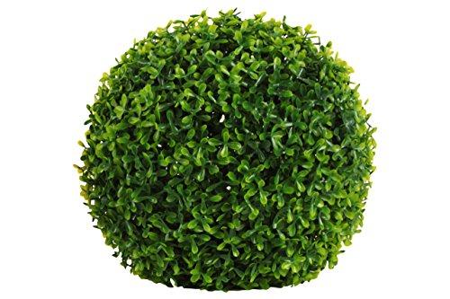 Urban Trends Polyurethane Round Topiary Effect Bush Ball Garden Decor, Large, Natural Green (Ball Topiary)