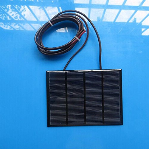 12V 1.5W Mini Solar Panel Small Cell Module Epoxy Charger with 1M Welding Wire BephaMart BM00001