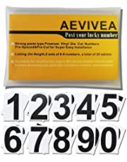 Black vinyl digital 0-9 decals-3 inches 2 sets of 20 sheets-sunscreen waterproof self-adhesive-for mailbox codes,residential address numbers,signs, Windows,doors,cars,trucks,homes,shop,storage lockers