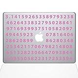 "The Decal Guru Pi Decal Vinyl Sticker, 15"" MacBook Pro (2016 & Newer Models), Pink (2359-MAC-15X-BG)"
