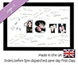 18th Birthday Signing Personalised Autograph Signature Guest Book Photo Frame To Sign by Photos in a Word (White Mount with Black Finish Frame) by Photos in a Word