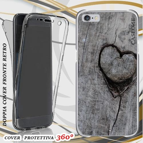 CUSTODIA COVER CASE cuore sul muro PER IPHONE 6 PLUS FRONT BACK