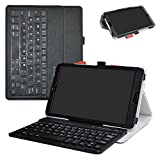 Huawei MediaPad M5 8.4 2018 Bluetooth Keyboard Case,Mama Mouth Slim Stand PU Leather Cover with Romovable Bluetooth Keyboard for Huawei MediaPad M5 8.4 2018 Android Tablet,Black