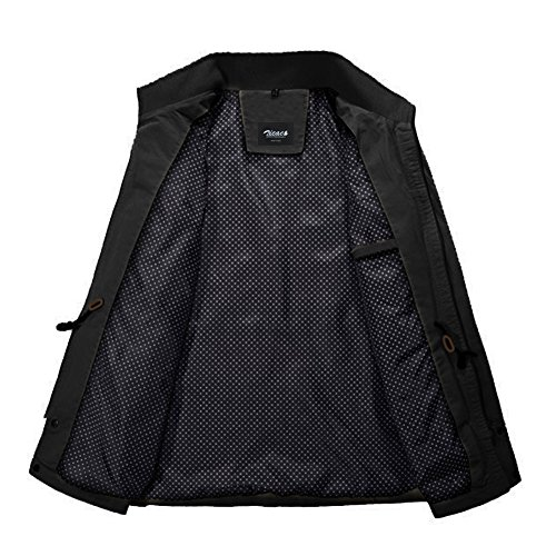 À Coton Noir Fermeture Mi Slim Veste Éclair En Militaire Zicac Fit saison w1p6na7Y