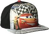 Disney Big Boys' Cars Lightening McQueen Adjustable Baseball Cap, Black, One Size