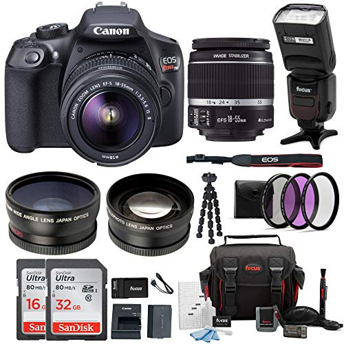Cheap Canon EOS Rebel T6 Digital Camera: 18 Megapixel 1080p HD Video DSLR Bundle with 18-55mm Lens TTL Flash 48GB SD Card Mini Tripod Filter Kit & Charger – Professional Vlogging Sports & Action Cameras