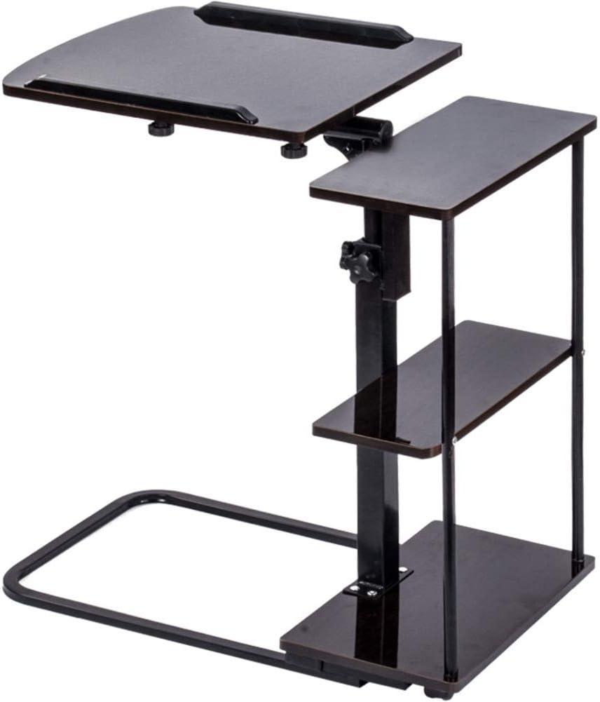 19x16inch Rart Foldable Desk,Adjustable Height Laptop Table Mobile Bed Table Multifunction Laptop Computer Desk Portable Standing Desk-Tilting Desktop-B 48x40cm