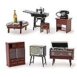 Odoria 1:24 Miniature Vintage Japanese Living Room Furniture Dollhouse Furniture Accessories