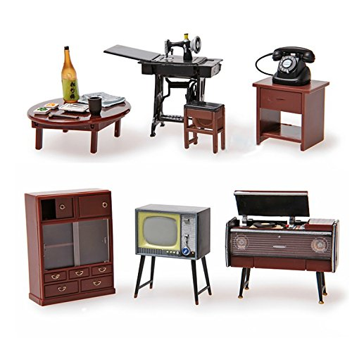 Miniature Doll Furniture - Odoria 1:24 Vintage Japanese Furniture Dollhouse Miniature Accessories