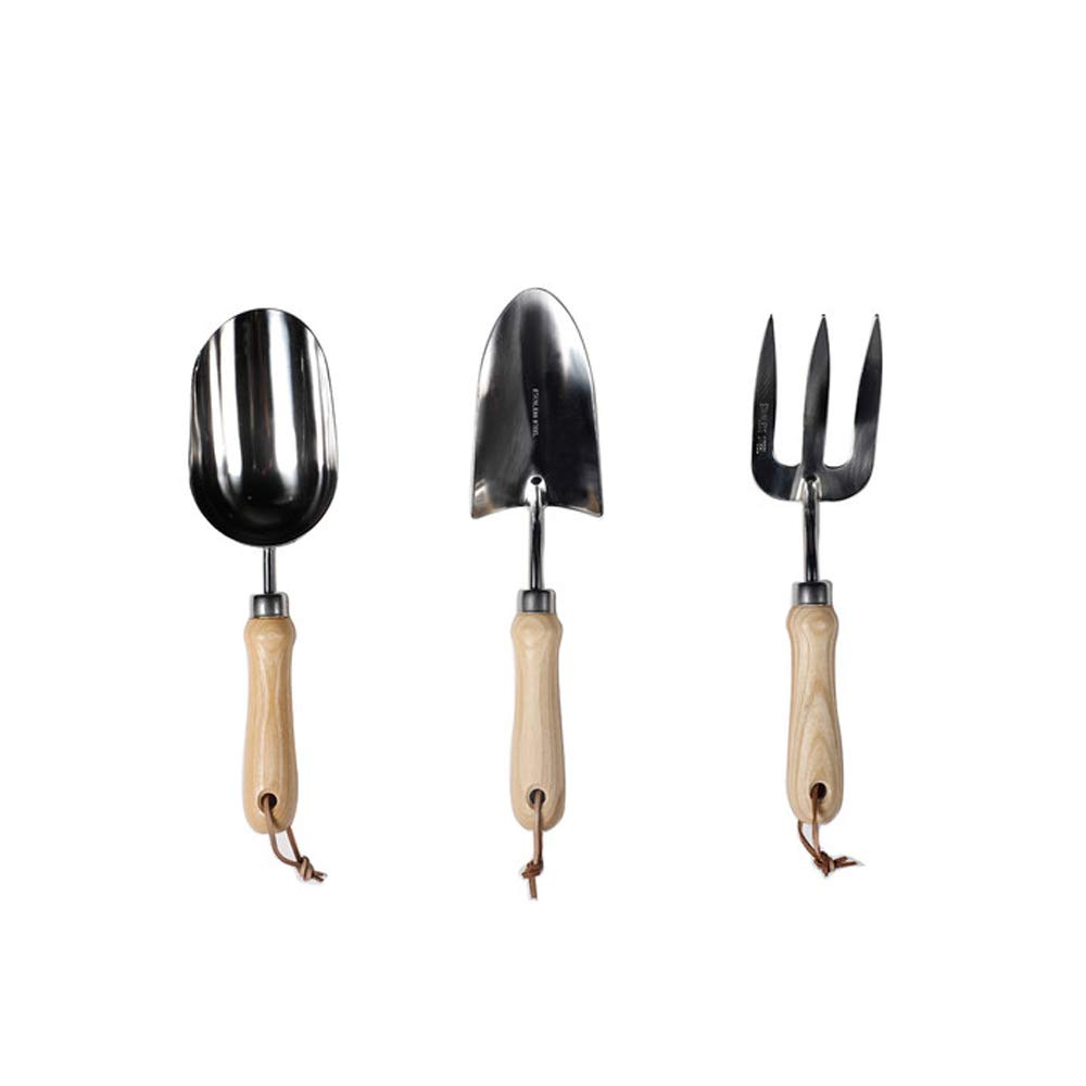 Premium Stainless Steel Garden Tool 3 Piece Set, Includes Hand Trowel, Transplant Trowel and Cultivator Hand Rake,Ergonomic Handle -Garden Tool by TYI