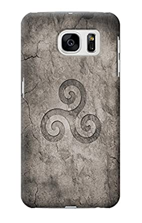 R2892 Triskele Symbol Stone Texture Case Cover For Samsung Galaxy S7