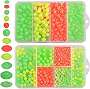 Fishing Egg Beads 1000pcs Assorted Color Oval Round Artificial Different Size Fishing Lure Soft Luminous Beads