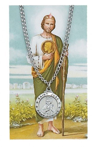 (Pewter St. Jude Medal & 24