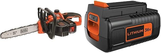 BLACK+DECKER GKC3630L20-QW Motosierra a batería 36V + Black+Decker ...