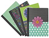 Emraw Sass & Class Style Cover Composition Book with 80 Sheets of Wide Ruled White Paper (4 Pack)